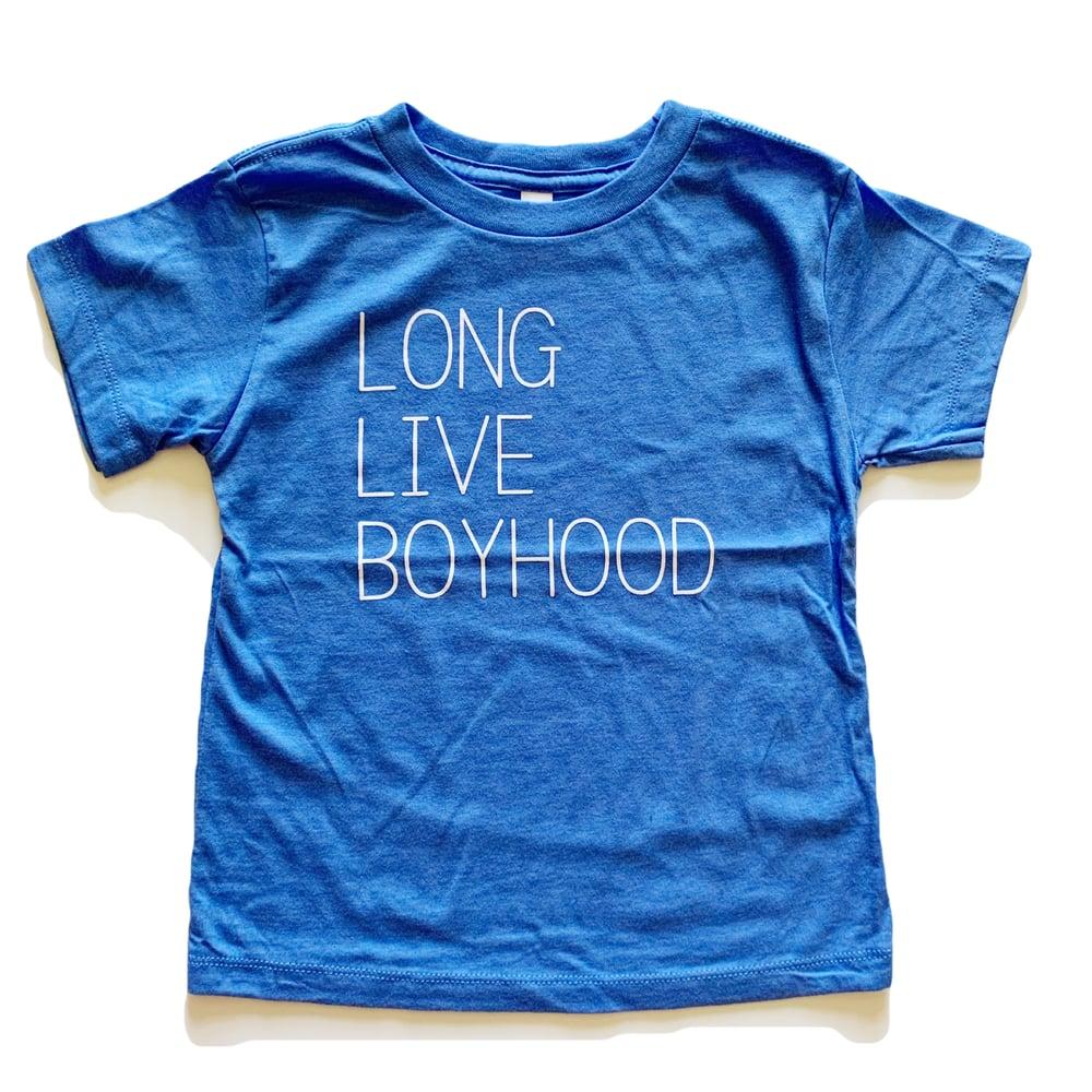 Image of LONG LIVE BOYHOOD TEE (LIGHT BLUE)