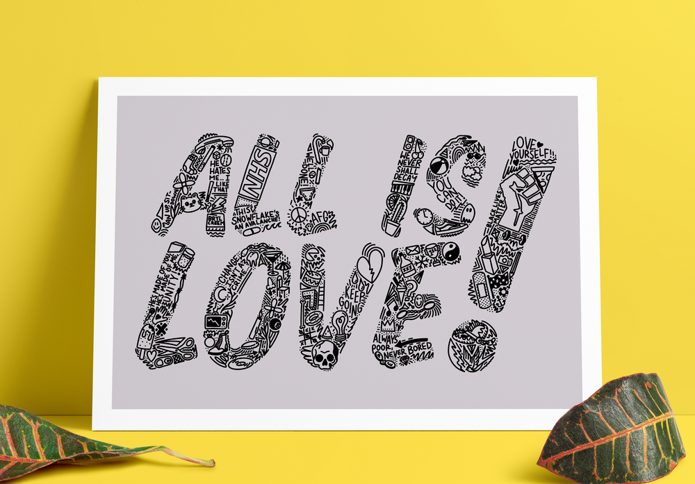 AF Gang - All is Love - A3 Print