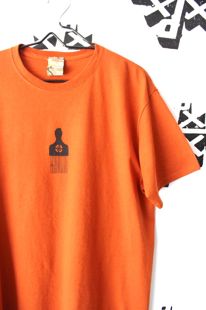 Image of pick out tee in burnt orange