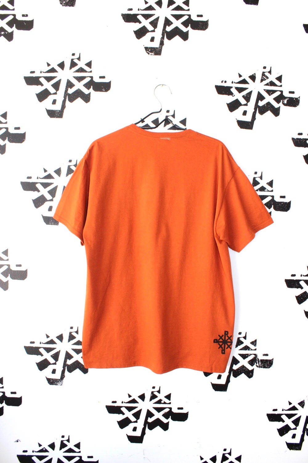pick out tee in burnt orange