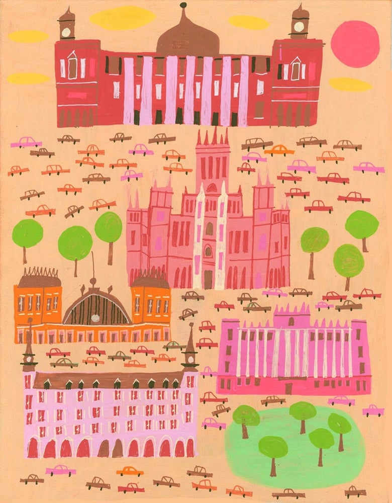 Image of Madrid. Limited edition print.