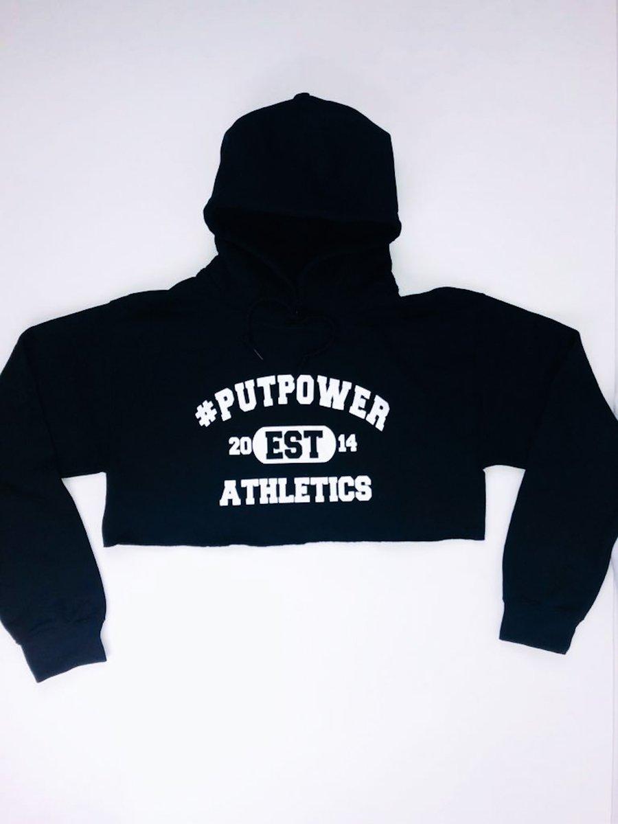 Image of #PUTPOWER ATHLETICS CROP HOODIE