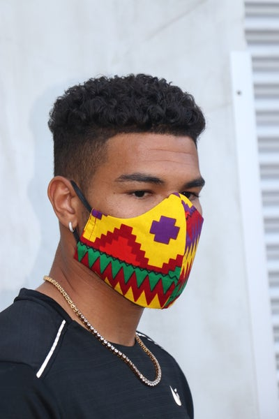 Image of The wala filtered face mask- Kente