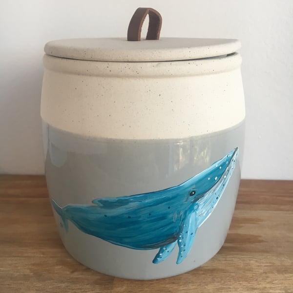 Image of Ceramic Humpback Whale Jar
