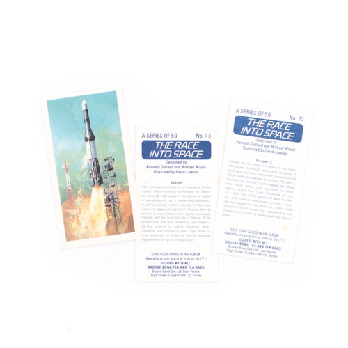 Image of Race Into Space Cigarette Cards - Set of 8 or Complete Set