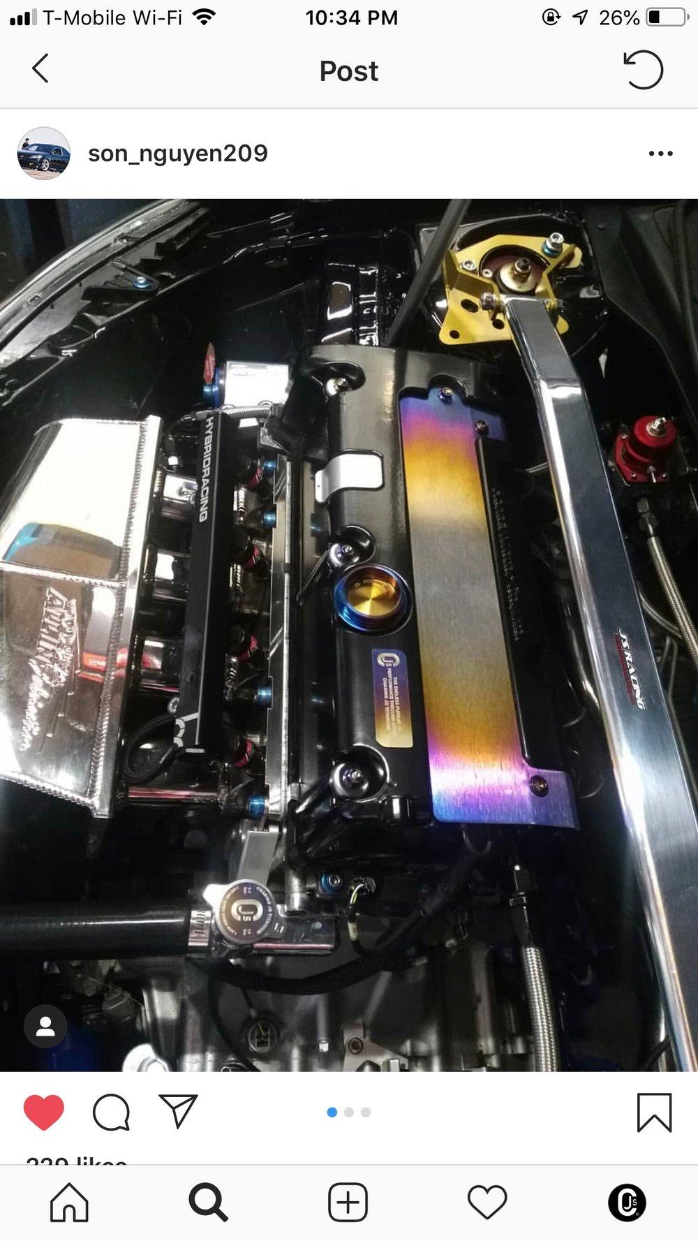 Honda/Acura Titanium oil cap