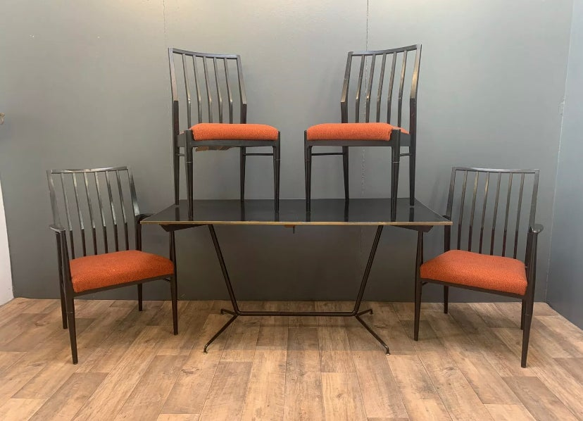 Image of Mid century Heals dining table and chairs
