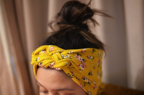 Image of Mustard Pansy Headwrap