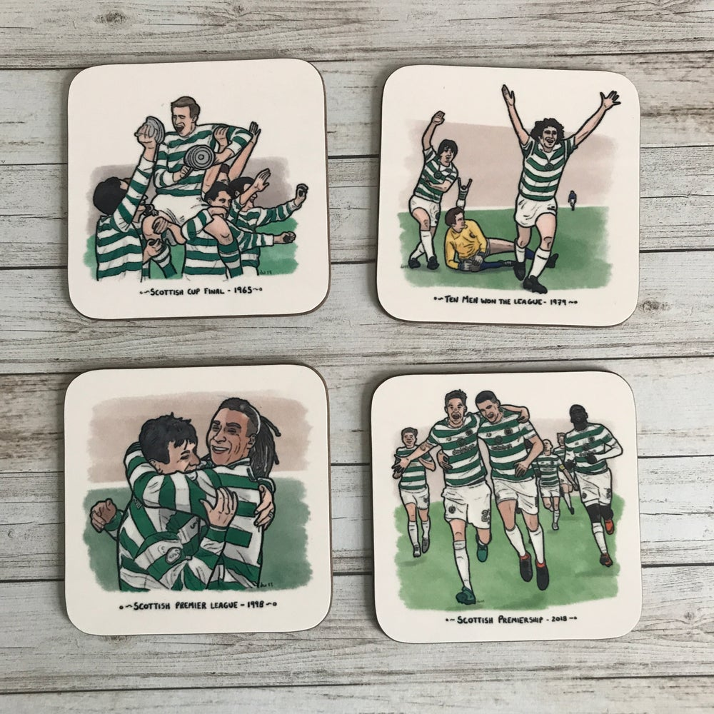Image of MADE TO ORDER: 'WINNERS COLLECTION' CELTIC FC COASTER SET