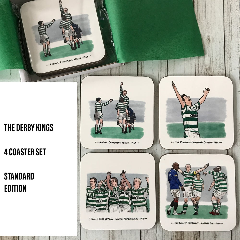 Image of MADE TO ORDER: 'DERBY KINGS' CELTIC FC COASTER SET