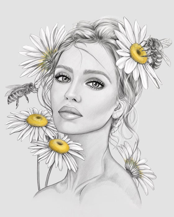Image of DAISY GICLEE PRINT A4/A5