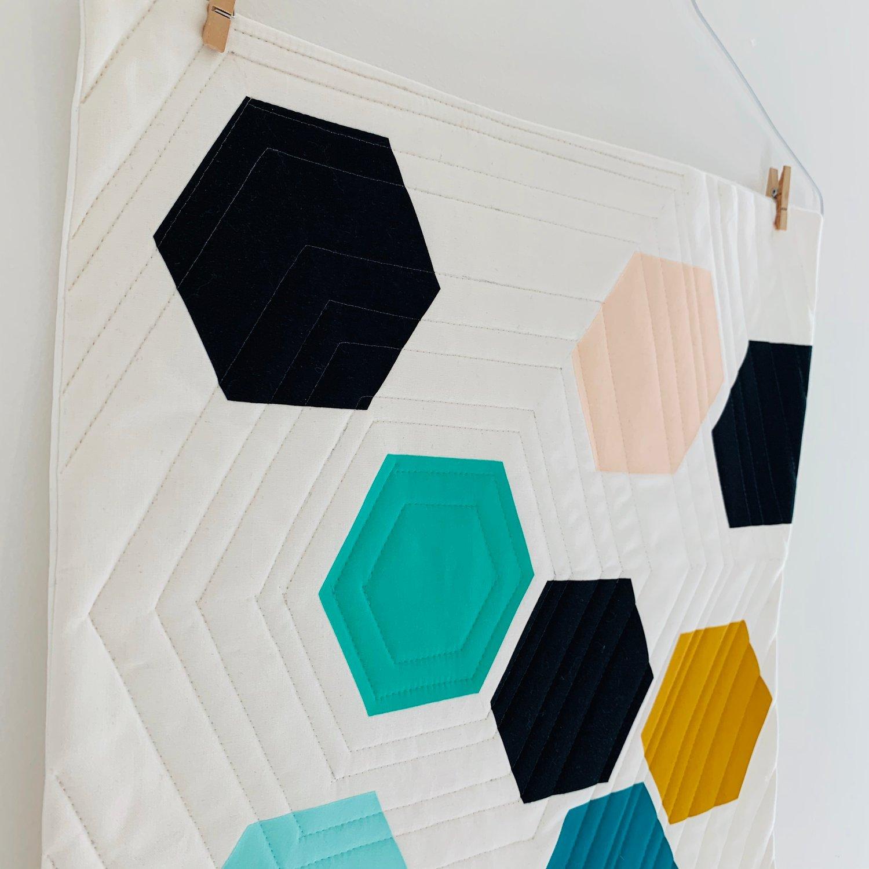 Image of Hexagons Mini Quilt