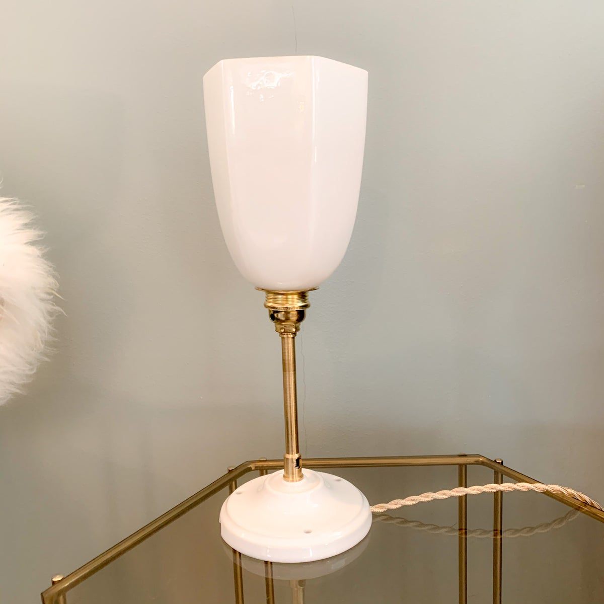 Image of VENDUE/SOLD OUT Lampe Opaline Light