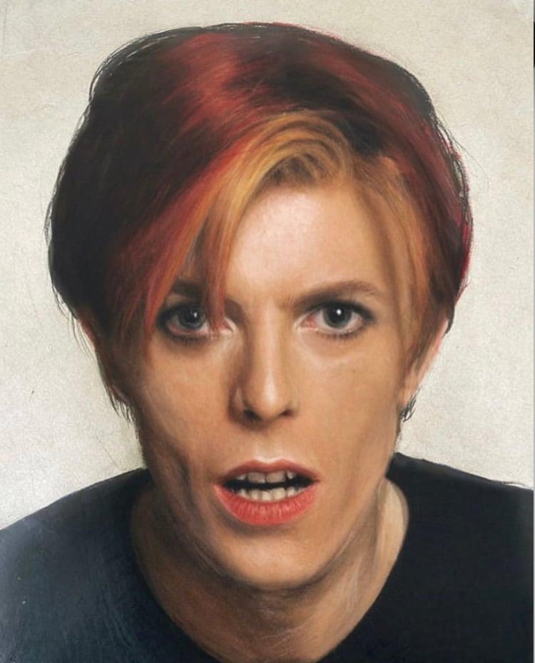 David Bowie Coloured Pencil Portrait (Gloss Print)