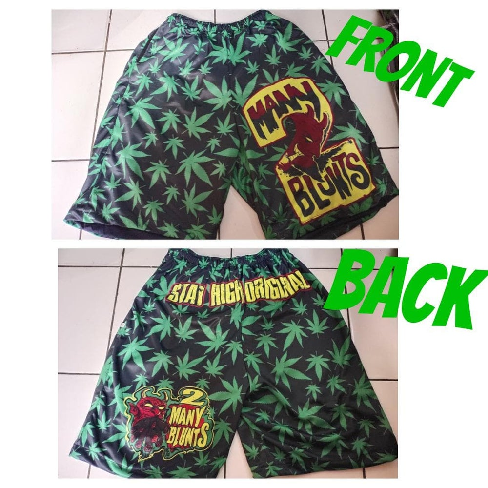 Image of 2 MANY BLUNTS ALL OVER SHORTS (IN STOCK)