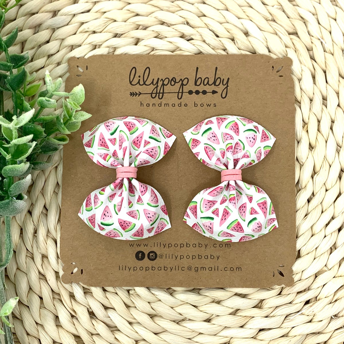 Image of Watermelon Slices Pigtail (Set of 2)