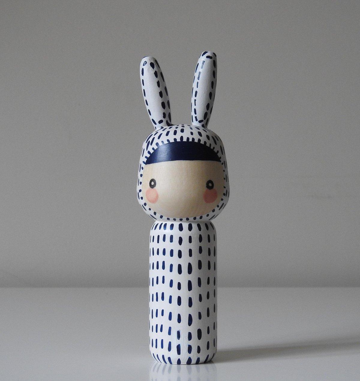 Image of Year of the Rabbit (indigo stitches)