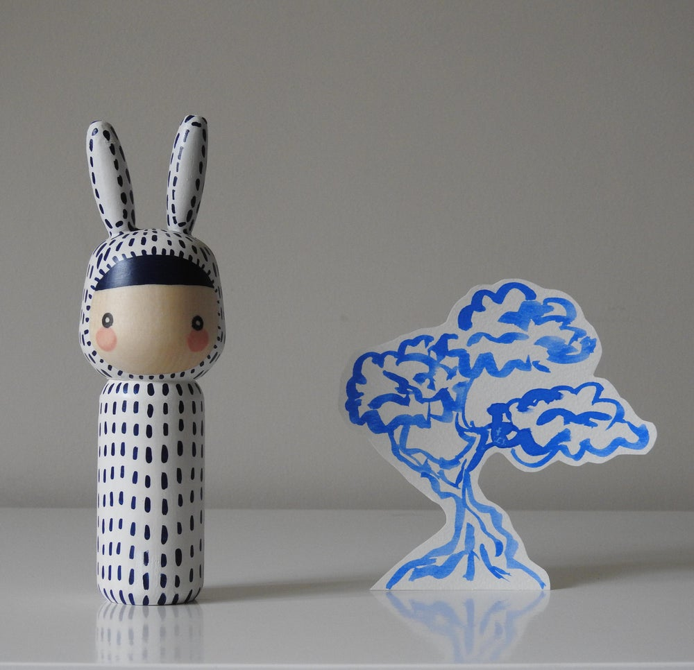 Image of Year of the Rabbit (indigo stitches)