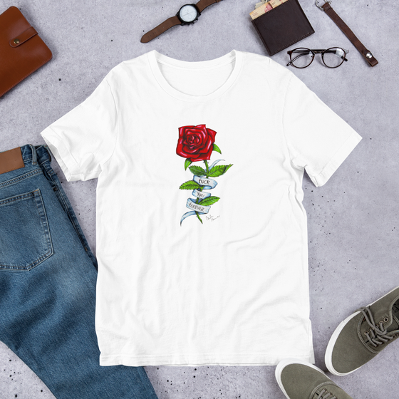 Image of FUCK YOU FOREVER WHITE UNISEX T