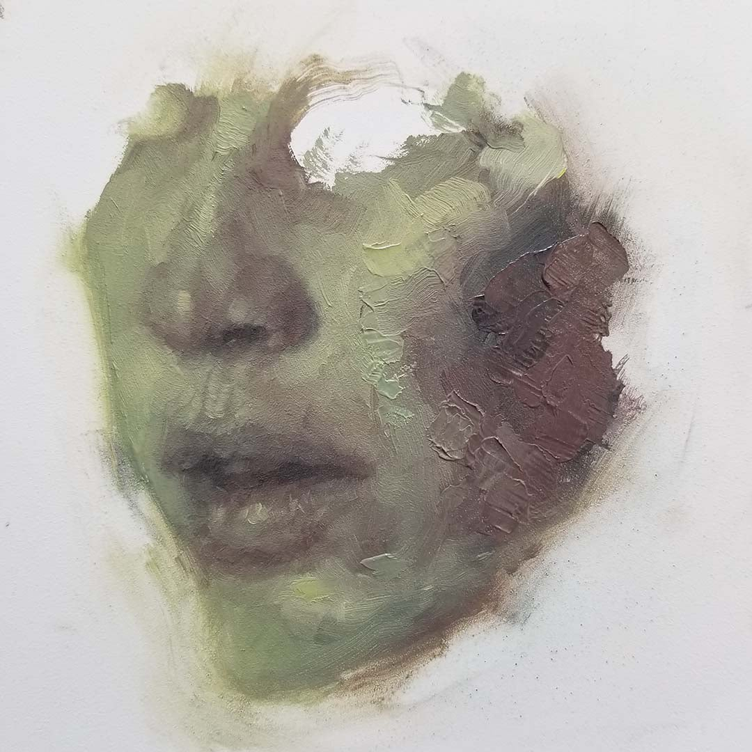 Image of Focus Series No.003 | 6x6 inch | oil on panel