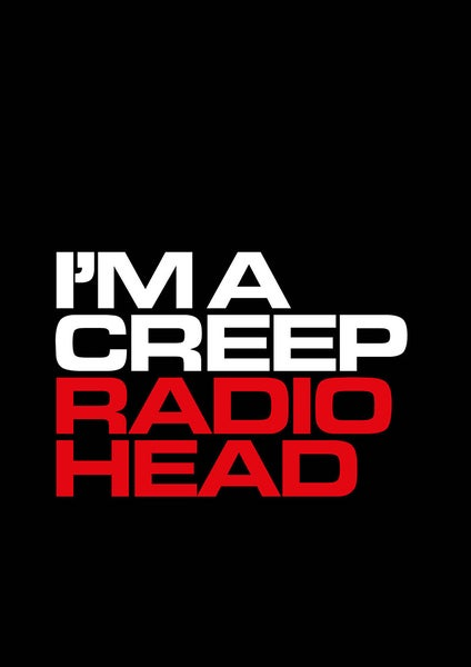Image of Radiohead Poster - I'm a Creep
