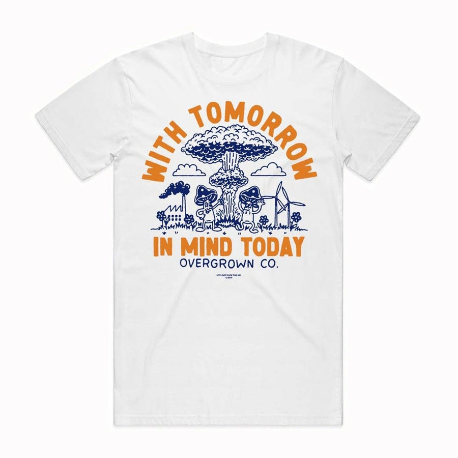 Image of 'NUCLEAR HOLIDAY' TEE IN WHITE