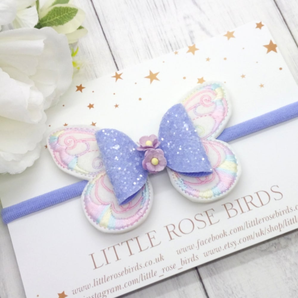 Image of Lilac Pastel Butterfly Bow