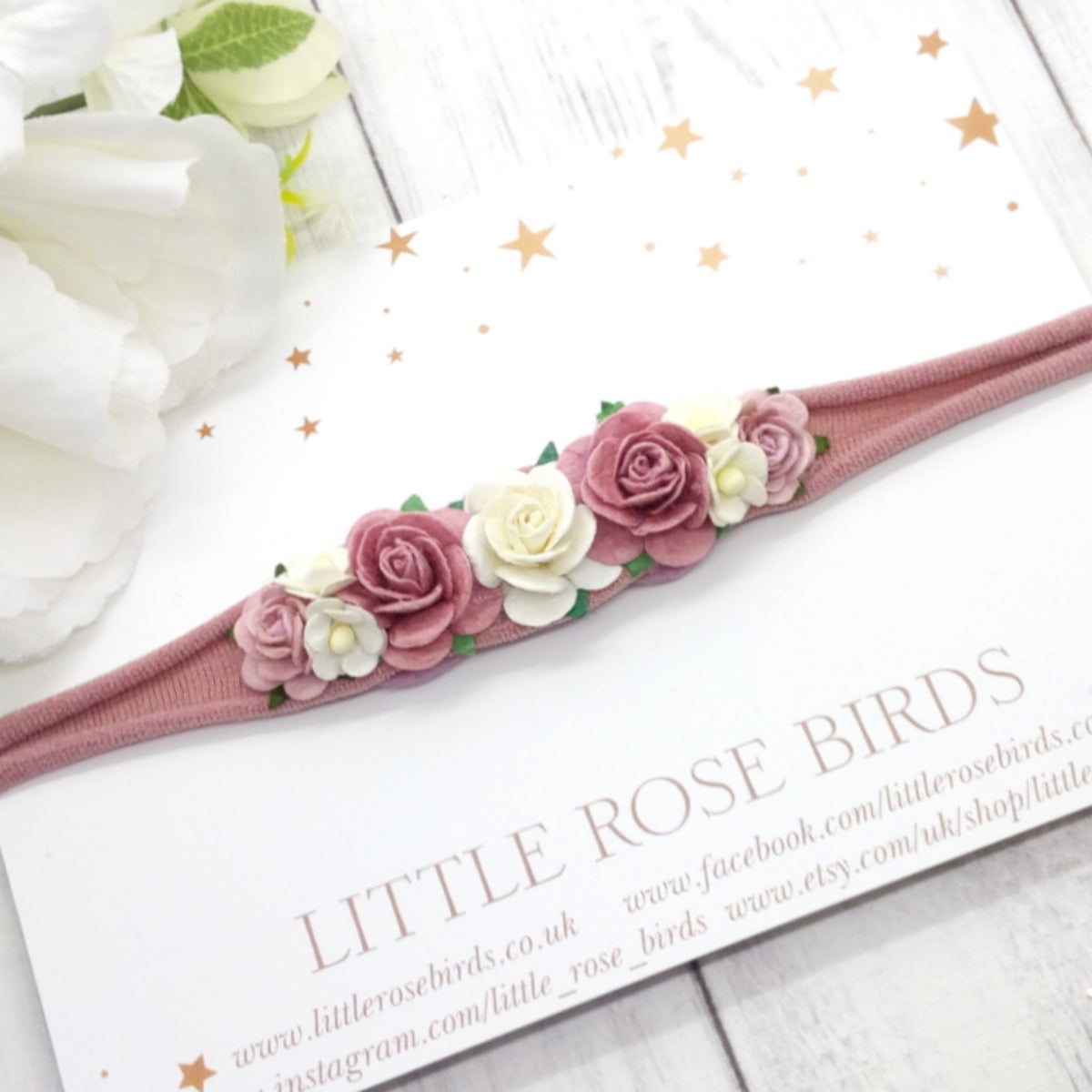 Image of Dusky Pink Occasion Headband