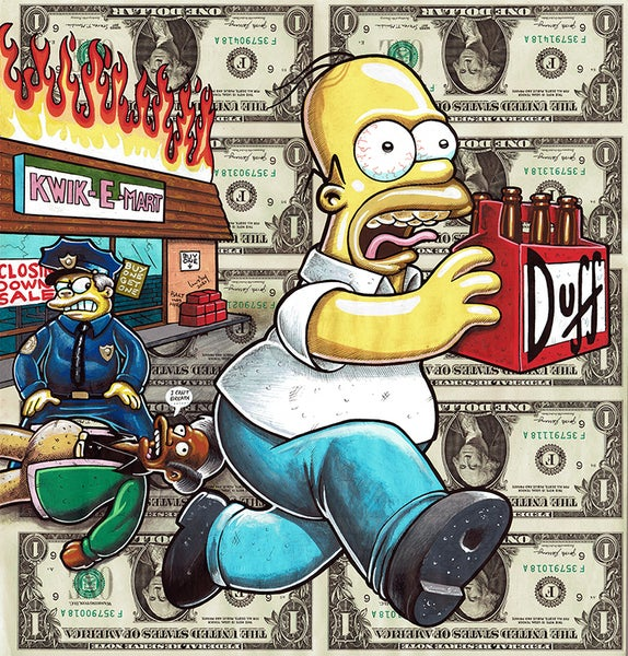 Image of Uncut Dollar Original. Homers Loot.