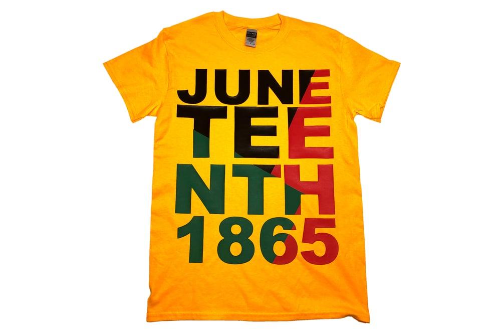 Image of Juneteenth  T-shirt Gold