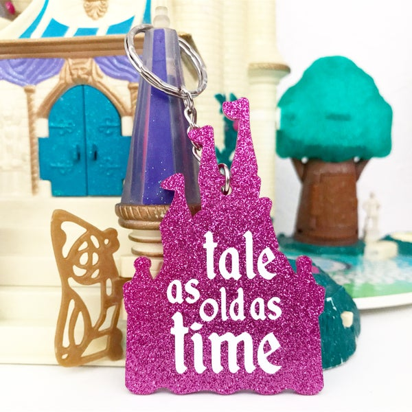 Image of Tale As Old As Time Keyring