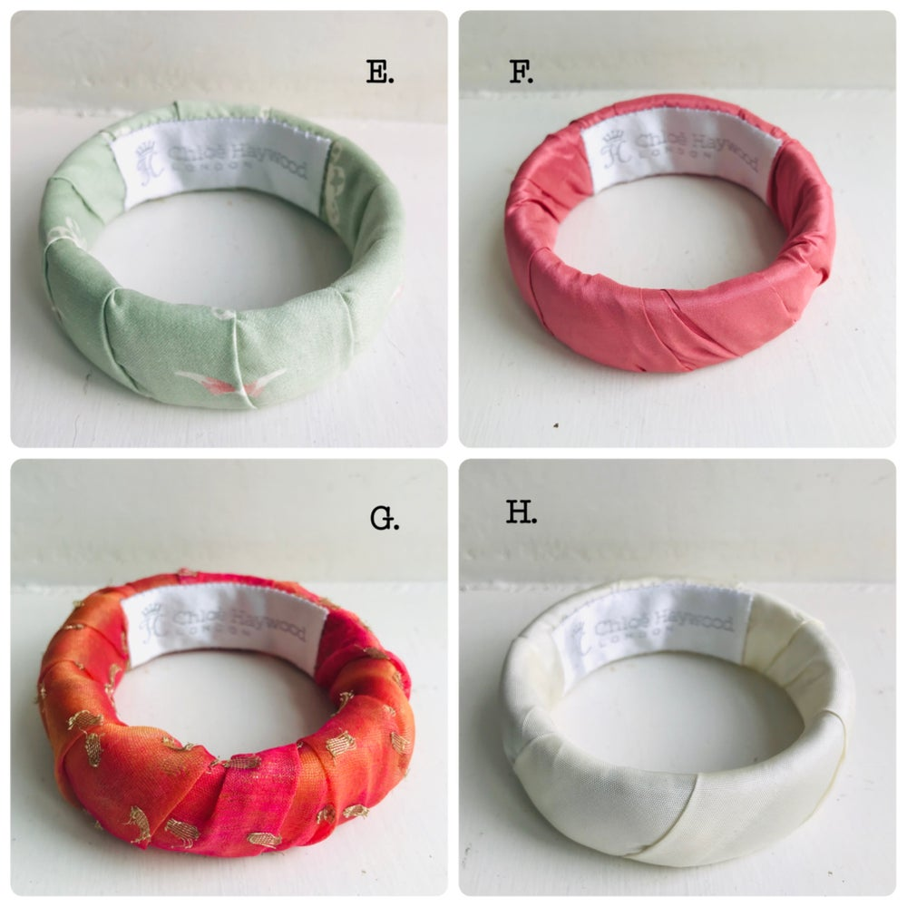 Image of Fabric Wrapped Bracelet