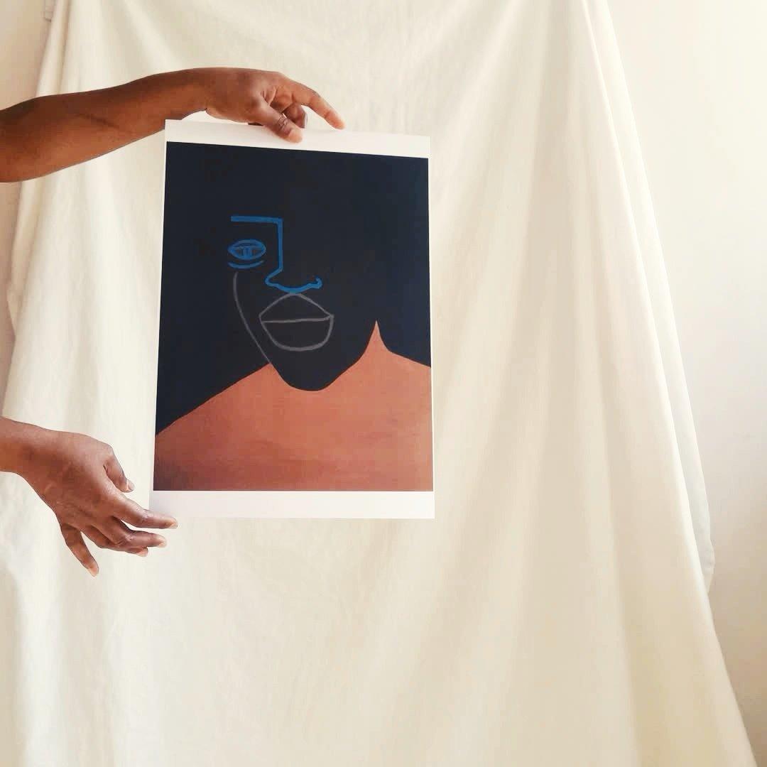 Image of black scholar print