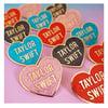Taylor Swift Love Heart Enamel Pins (gold)