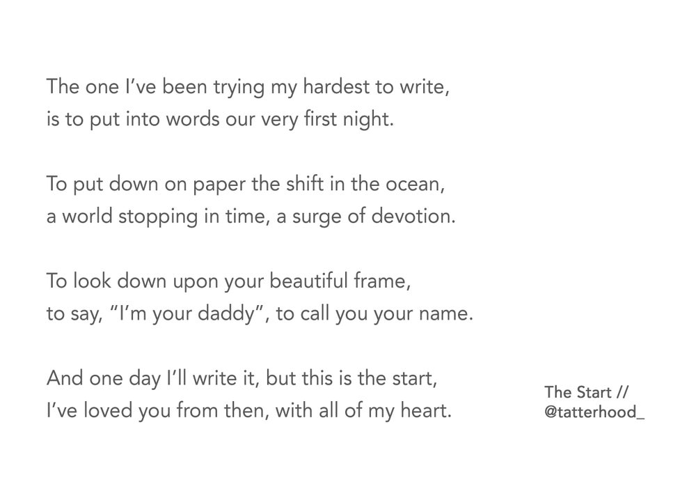 Image of The Start poem postcard - 'Daddy' (father's version)