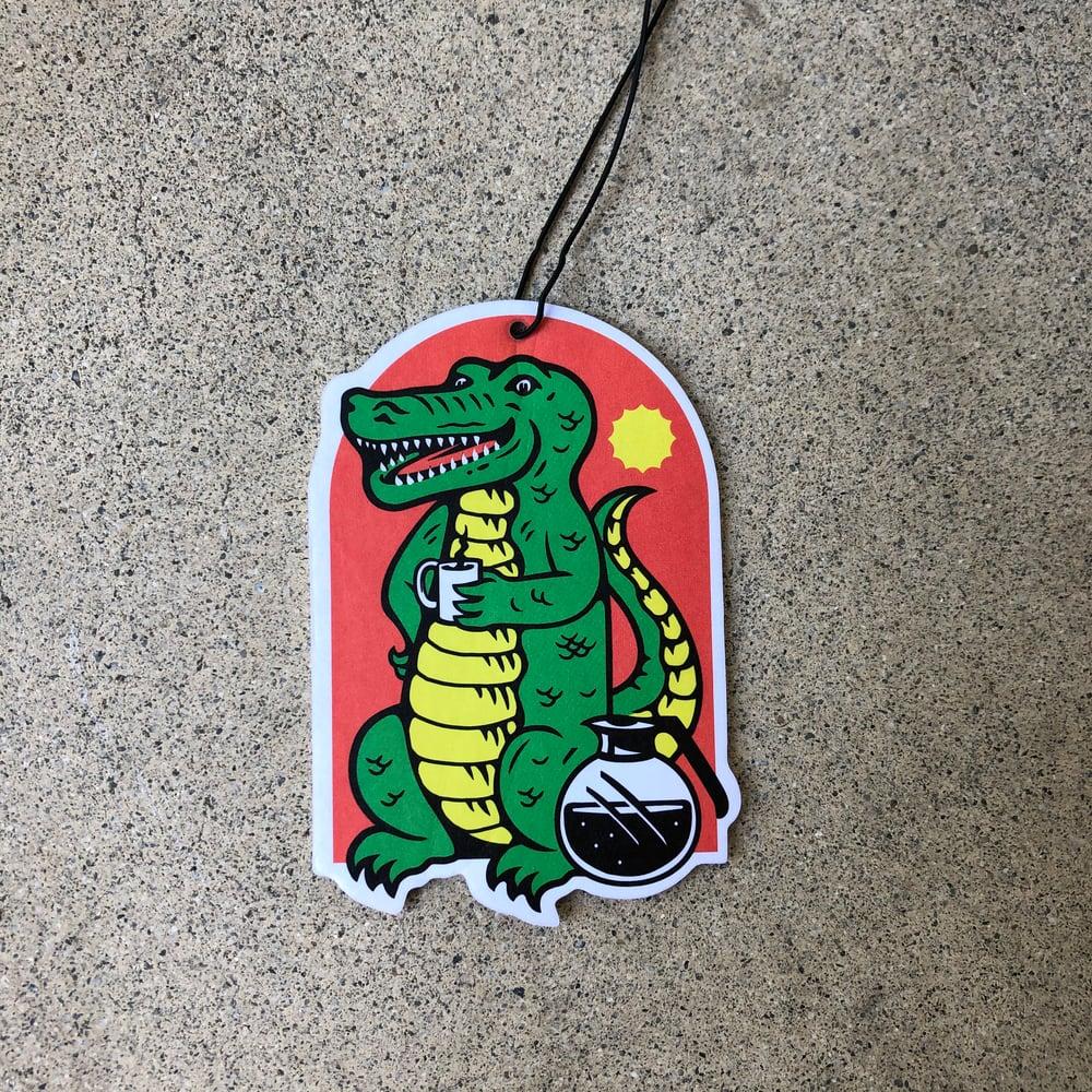 RR #117 Death By Coffee Alligator Coffee Air Freshener