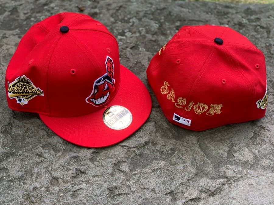 Image of THE SAVIOR X NEW ERA CLEVELAND 1995 GOLD 59FIFTY