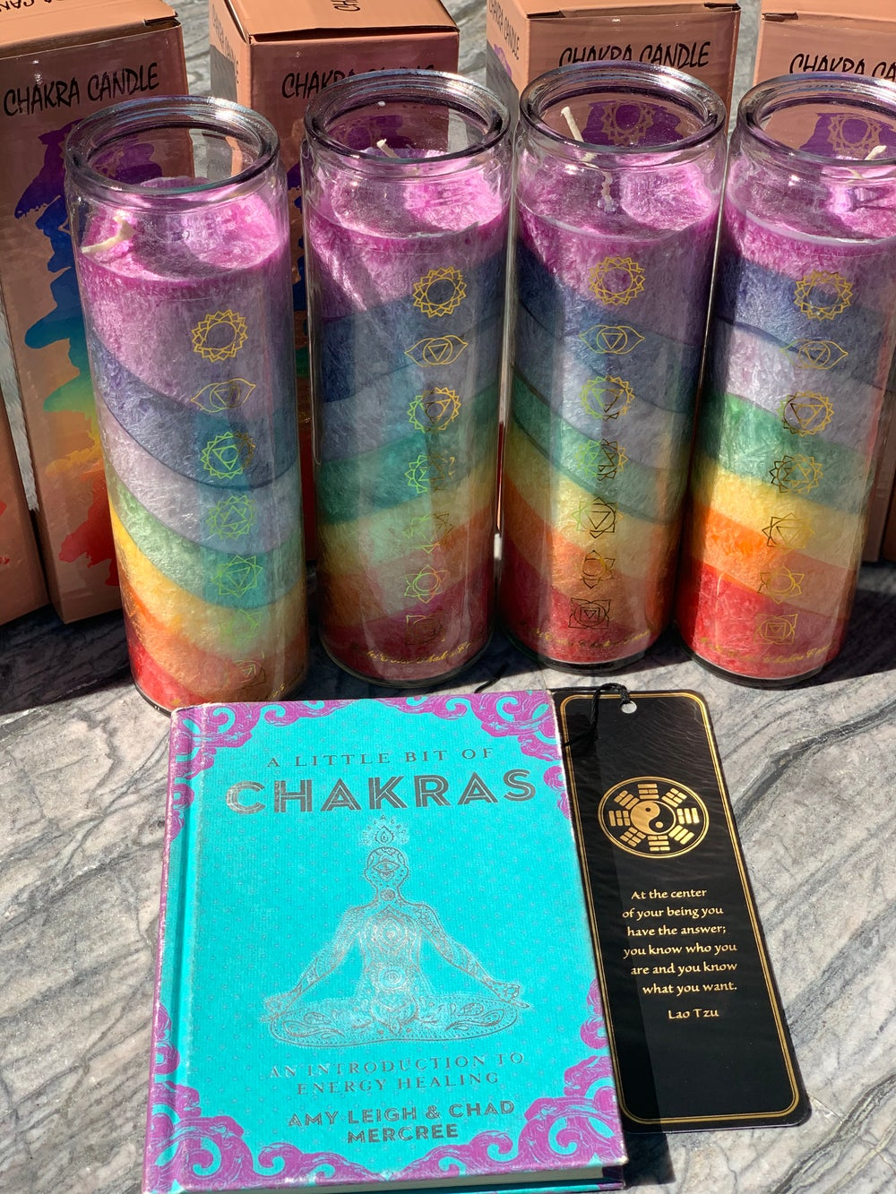 Image of 7 layer chakra candle (Unscented)