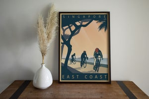 Image of Cycle East Coast Poster