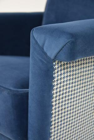 Image of Fauteuil Carré Bleu