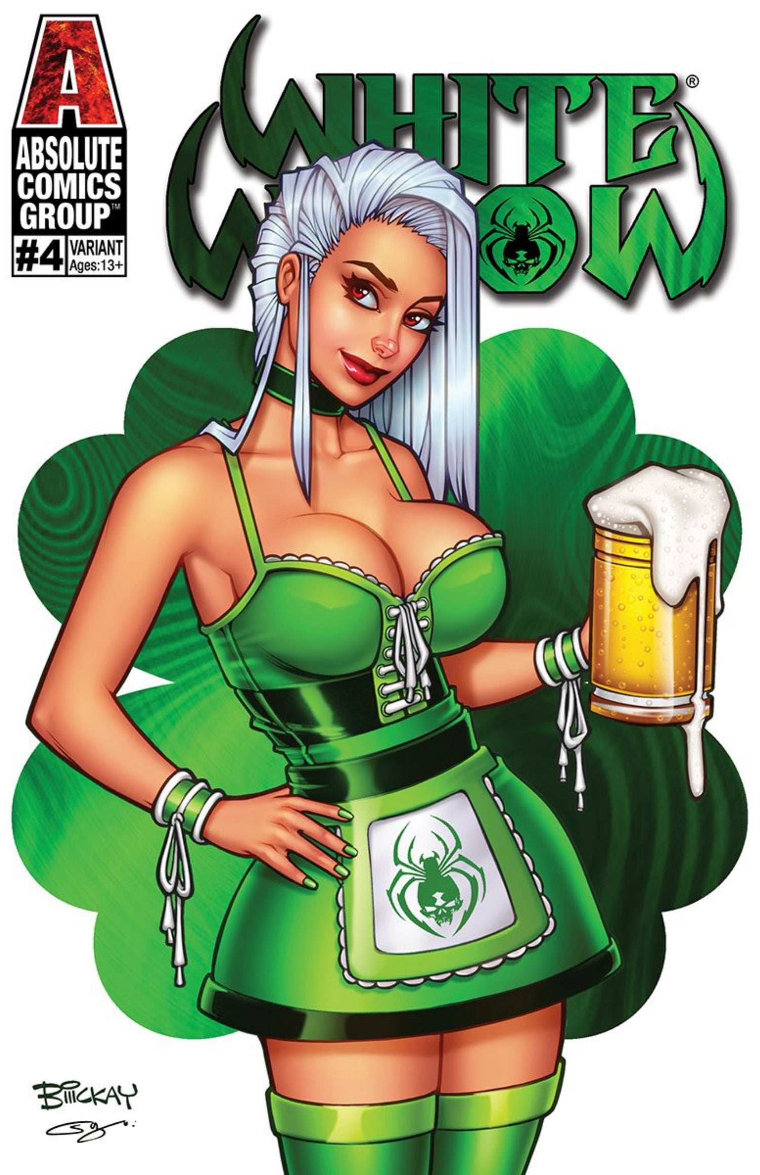 White Widow 4 St. Patrick's Day Exclusive Foil.