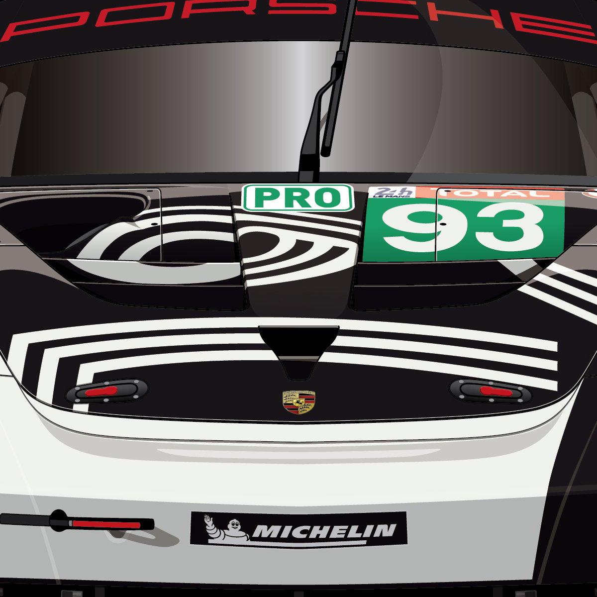 #93 Porsche RSR LeMans24Virtual (D1-118)