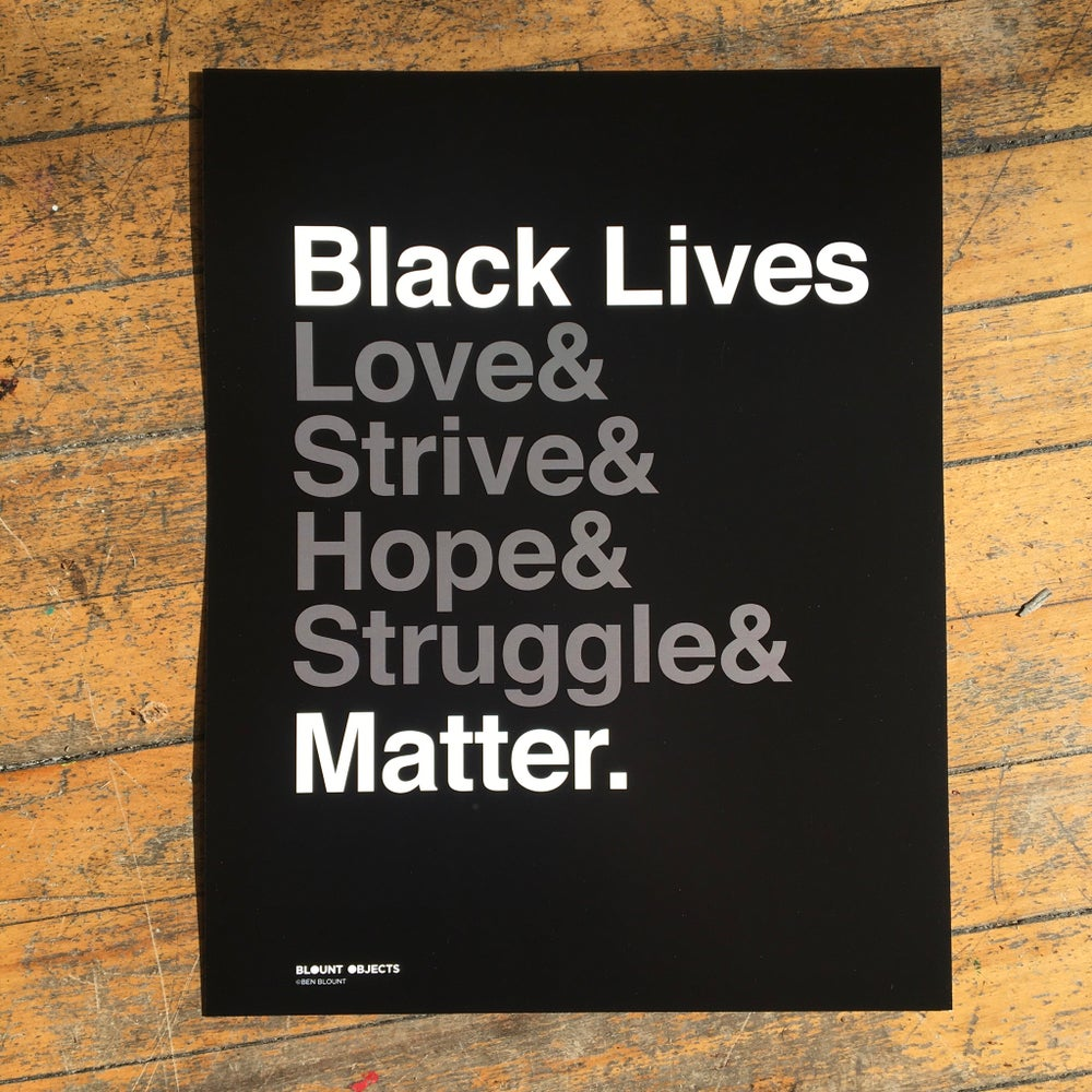 Image of Black Lives Matter printed poster
