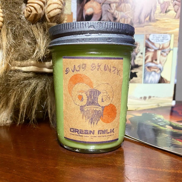 Image of Green Milk Candle Collab with Creature Soaps