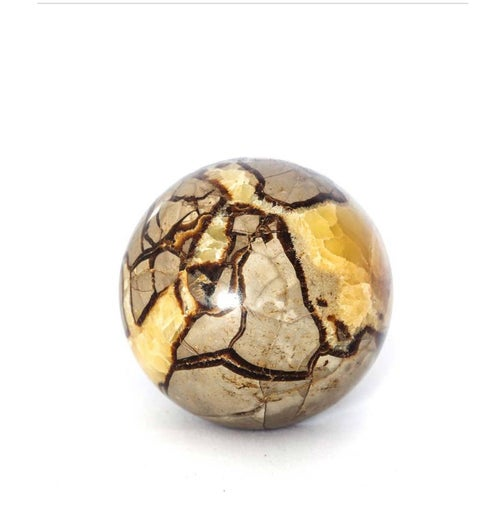 "Image of Septarian ""Dragon Stone"" Sphere 