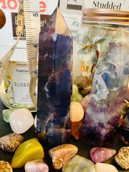 Image of Fluorite Large Polished Point Tower | Natural Crystals