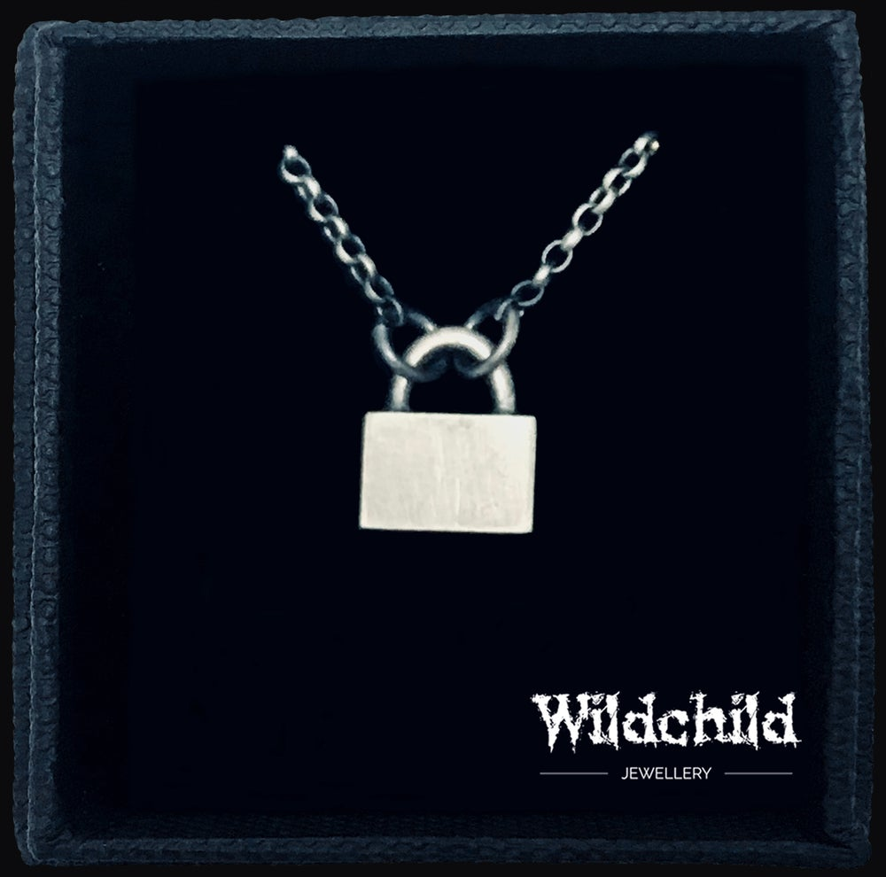 Image of Small Padlock Necklace