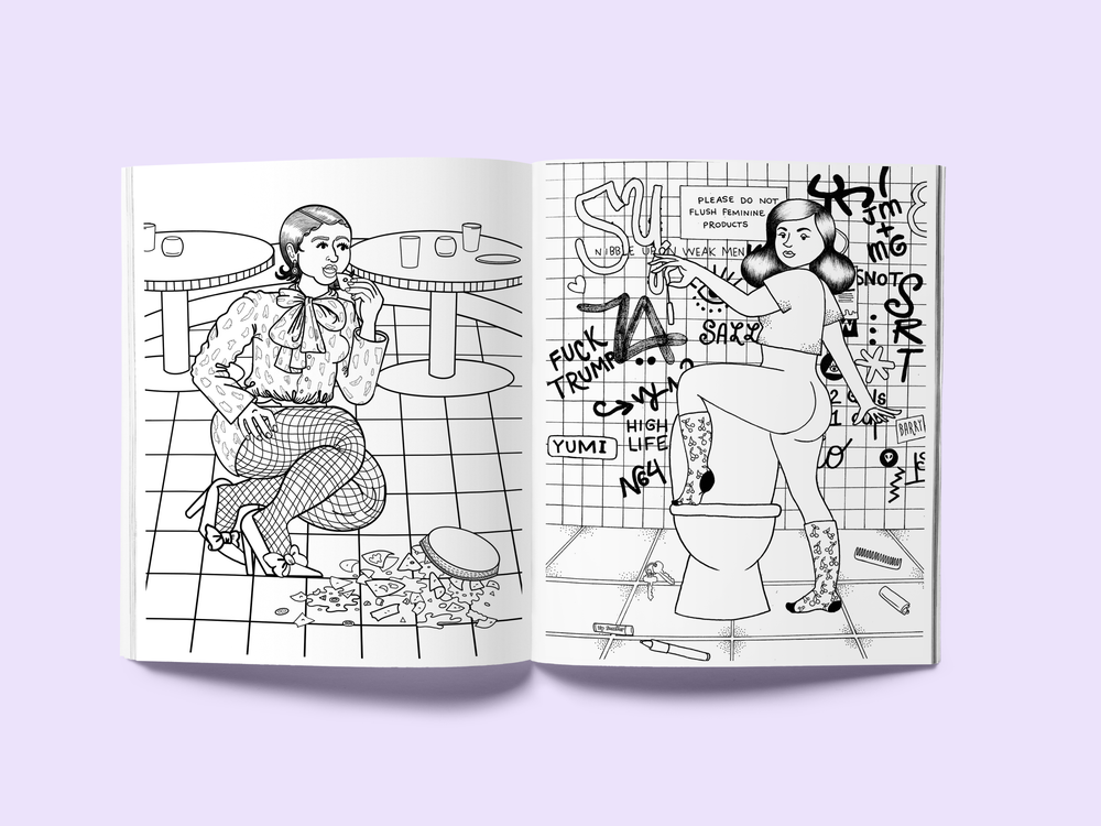 Image of Gross Girls Coloring Book