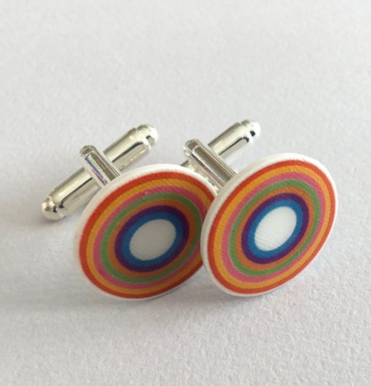 Bird Modern Vintage -Rainbow Cufflinks