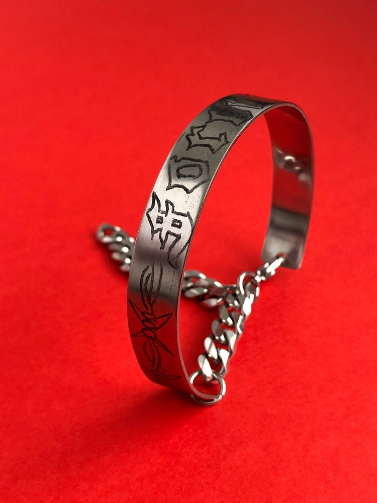 Image of 'FOREVER' HAND ENGRAVED CUFF BANGLE